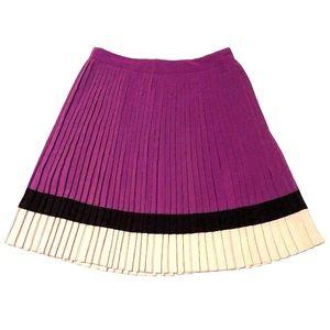 The Limited pleated full skirt knee-length